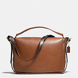 COACH MERCER POSTMAN BAG IN LEATHER - BRASS/SADDLE - F71187