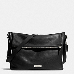 COACH THOMPSON ZIP TOP MESSENGER IN LEATHER - ANTIQUE NICKEL/BLACK - F71236