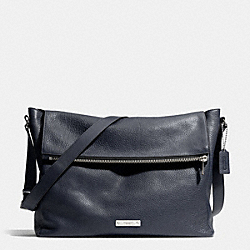 COACH THOMPSON ZIP TOP MESSENGER IN LEATHER - SILVER/NAVY - F71236