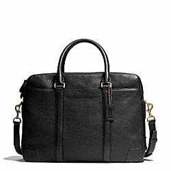 BLEECKER COMMUTER IN PEBBLE LEATHER - BRASS/BLACK - COACH F71237