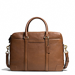 BLEECKER  PEBBLED LEATHER COMMUTER - BRASS/SADDLE - COACH F71237