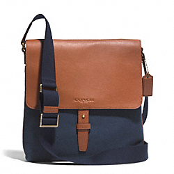 HERITAGE BEACH SOLID CANVAS MAP BAG COACH F71269