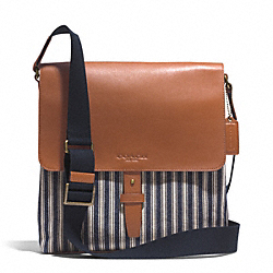HERITAGE BEACH RAILROAD STRIPE MAP BAG COACH F71270