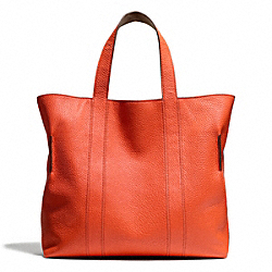 COACH BLEECKER REVERSIBLE BUCKET TOTE IN PEBBLED LEATHER - SAMBA - F71291