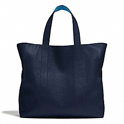 COACH BLEECKER REVERSIBLE BUCKET TOTE IN PEBBLED LEATHER - NAVY - F71291
