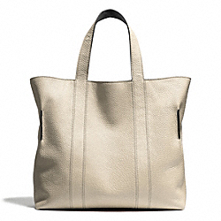 COACH BLEECKER REVERSIBLE BUCKET TOTE IN PEBBLED LEATHER - PARCHMENT - F71291