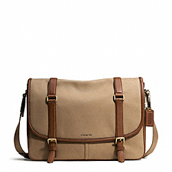 COACH BLEECKER ARCHIVAL TWILL COURIER BAG - BRASS/JUTE/FAWN - F71294