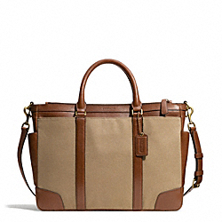 BLEECKER ARCHIVAL TWILL METROPOLITAN BAG - BRASS/JUTE/FAWN - COACH F71298