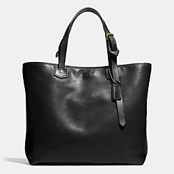 BLEECKER SMALL HOLDALL IN LEATHER - BRASS/BLACK - COACH F71329