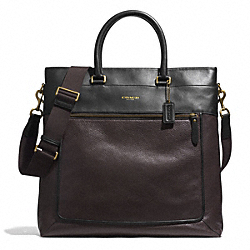 ESSEX LEATHER HELMET BAG - GUNMETAL/BARK/DARK BROWN - COACH F71337