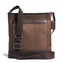 COACH CAMDEN LEATHER TECH CROSSBODY - GM/DISTRESSED BROWN/BRN - F71341