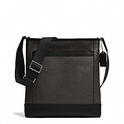 COACH CAMDEN LEATHER TECH CROSSBODY - GUNMETAL/SLATE/BLACK - F71341
