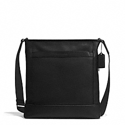 COACH CAMDEN LEATHER TECH CROSSBODY - GUNMETAL/CLASSIC BLACK - F71341
