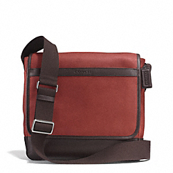 CAMDEN LEATHER MAP BAG - f71346 - GM/RUST/DARK BROWN