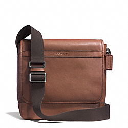 CAMDEN LEATHER MAP BAG - GUNMETAL/CLASSIC TOBACCO - COACH F71346