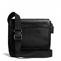 CAMDEN LEATHER MAP BAG - GUNMETAL/CLASSIC BLACK - COACH F71346