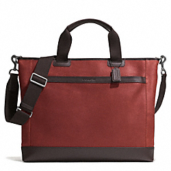COACH CAMDEN LEATHER SUPPLY BAG - GM/RUST/DARK BROWN - F71347