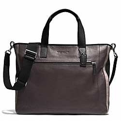 COACH HERITAGE SPORT SUPPLY BAG - SILVER/SLATE/BLACK - F71349