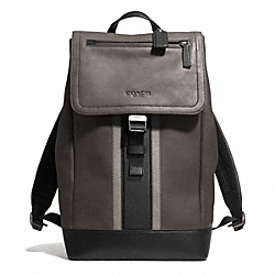 COACH HERITAGE SPORT BACKPACK - SILVER/SLATE/BLACK - F71350
