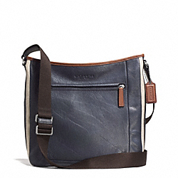 COACH HERITAGE SPORT ZIP CROSSBODY - SILVER/NAVY/SADDLE - F71351