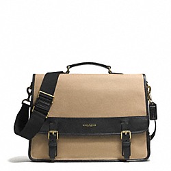 ESSEX CANVAS MESSENGER - GUNMETAL/BARLEY/BLACK - COACH F71385