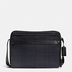 COACH NYLON FLIGHT CASE - GUNMETAL/GREY MULTI - F71406