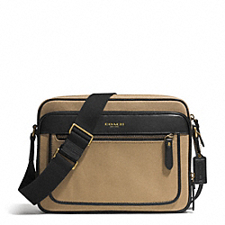 COACH ESSEX TWILL FLIGHT CASE - GUNMETAL/BARLEY/BLACK - F71415