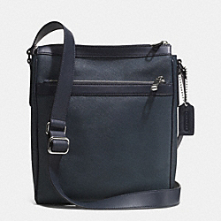 ZIP TOP CROSSBODY IN SAFFIANO LEATHER - f71449 -  SILVER/NAVY