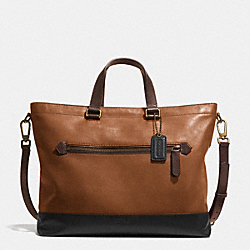 BLEECKER URBAN COMMUTER IN COLORBLOCK LEATHER - BRASS/FAWN/BLACK - COACH F71453