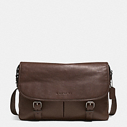 COACH SPORT MESSENGER IN LEATHER - GUNMETAL/MAHOGANY - F71470