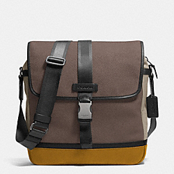 VARICK MAP BAG IN LEATHER - GRAY - COACH F71552