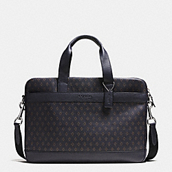 HUDSON BAG IN SMOOTH LEATHER - DIAMOND FOULARD - COACH F71561