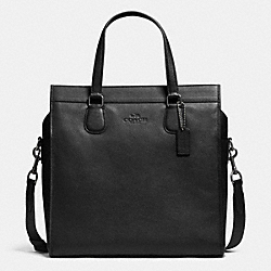 COACH SMITH TOTE IN PEBBLE LEATHER - ANTIQUE NICKEL/BLACK - F71612