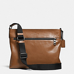 SAM CROSSBODY IN SPORT CALF LEATHER - ANTIQUE NICKEL/SADDLE - COACH F71623