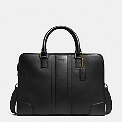 COACH DIRECTOR BRIEF IN BOMBE LEATHER - BRASS/BLACK - F71639