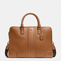 DIRECTOR BRIEF IN BOMBE LEATHER - BRASS/SADDLE - COACH F71639