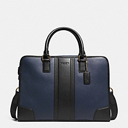BOMBE LEATHER DIRECTORS BRIEFCASE - NAVY/BLACK - COACH F71639