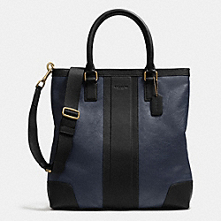 COACH BUSINESS TOTE IN BOMBE LEATHER - NAVY/BLACK - F71640