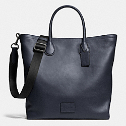 COACH MERCER TOTE IN PEBBLE LEATHER - ANTIQUE NICKEL/MIDNIGHT - F71647