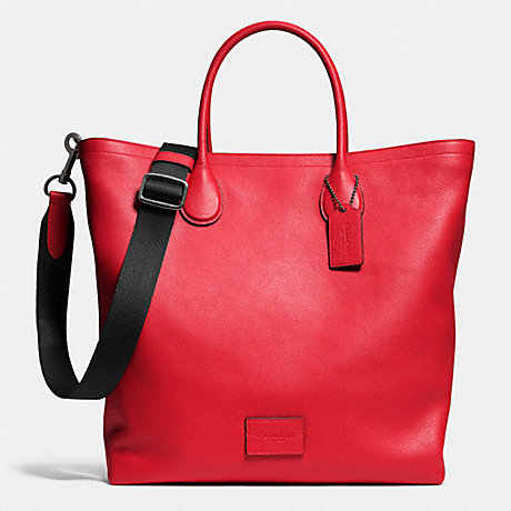 COACH MERCER TOTE IN PEBBLE LEATHER - QBRED - f71647