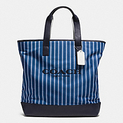 COACH MERCER TOTE IN NYLON - BLUE STRIPE - F71678