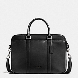 COACH SLIM BRIEF IN CROSSGRAIN LEATHER - BLACK - F71681