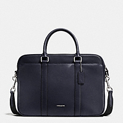SLIM BRIEF IN CROSSGRAIN LEATHER - MIDNIGHT - COACH F71681