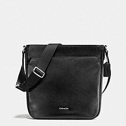 COACH CAMDEN TECH CROSSBODY IN LEATHER - BLACK - F71692