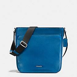 COACH CAMDEN TECH CROSSBODY IN LEATHER - DENIM - F71692