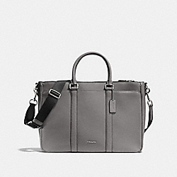 COACH METROPOLITAN BAG IN CROSSGRAIN LEATHER - ASH - F71695