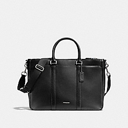 COACH METROPOLITAN BAG IN CROSSGRAIN LEATHER - BLACK - F71695