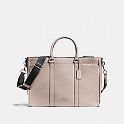COACH METROPOLITAN BAG IN CROSSGRAIN LEATHER - GREY BIRCH - F71695