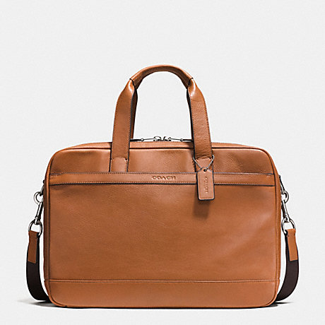 COACH HUDSON COMMUTER IN LEATHER -  SADDLE - f71701