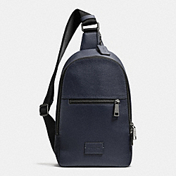 COACH CAMPUS PACK IN PEBBLE LEATHER - ANTIQUE NICKEL/MIDNIGHT - COACH F71709